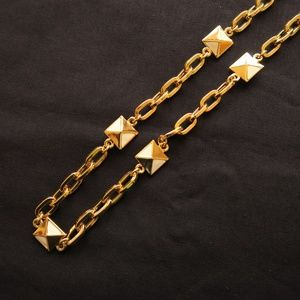 St. John Gold and Enamel Long Chain Necklace